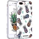 iPhone 8 Plus Case, iPhone 7 Plus Case, BENTOBEN Slim 2 in 1 Hybrid Hard PC Flexible TPU Drop Proof Protective Pineapple Phone Case for iPhone 8 Plus/7 Plus - Colorful Pineapple