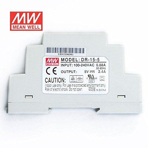 MEAN WELL DR-15-5 Power Supply 15W 5V 2.4A Constant Current Low No-load Loss by MEAN WELL (Image #2)
