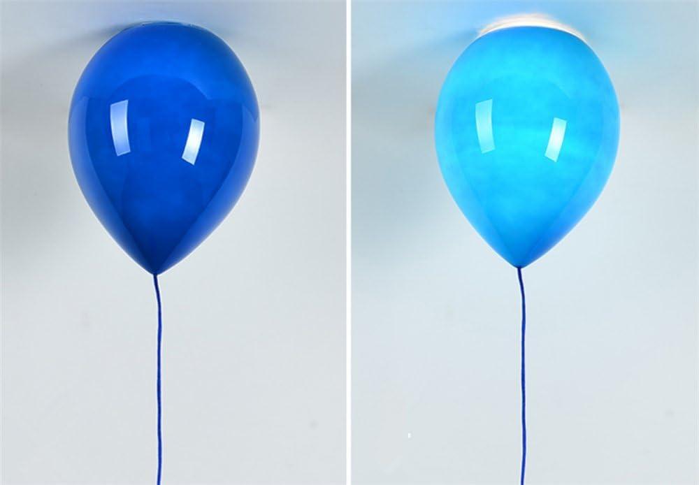 L/ámpara de techo,1 x E27,/Ø 25 cm, 6 color Moderno sombra Ni/ños Espacio Fiesta Amarillo, Azul, Color blanco, naranja, rojo y verde Festival,globos de color L/ámpara