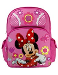 Medium Backpack - Disney - Minnie Mouse - Pink Flowers