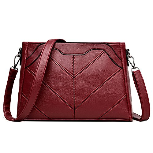 Daypack Red Zllnsxkb Main Dos Bandoulière Wild Pu Sacs Lady Fashion Sac Simple À Casual OwfRpq