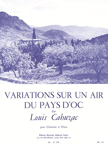 Variations Sur Un Air - Variations Sur Un Air Du Pays D'oc Pour Clarinette Et Piano (21270)
