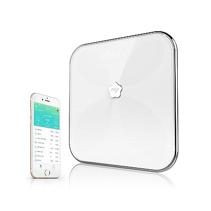 Adesugata Bluetooth Smart grasa corporal escala, Tecnología de medición precisa, ocultar el modo de