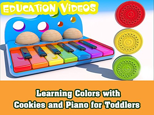 Learning Colors with Cookies and Piano for Toddlers ()