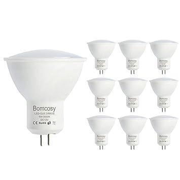 Bomcosy Bombillas LED GU5.3 12V Casquillo MR16 6 W equivalente a 50 W Luz