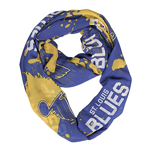 NHL St. Louis Blues Silky Infity Spatter Scarf