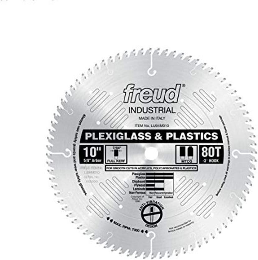 Freud 10 In 80 Tooth Plastic Cutting Blade
