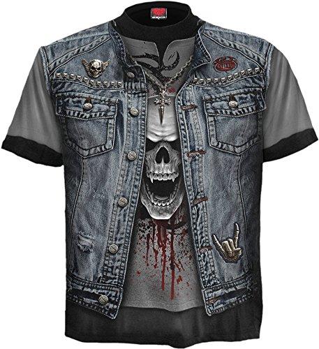 Spiral - Mens - Thrash Metal - Allover T-Shirt Black - ()
