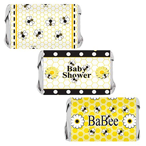 Bumble Bee Baby Shower Mini Candy Bar Wrappers - 45 Stickers