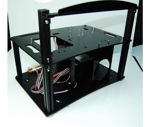 DIYPC Alpha-GT3 Black Acrylic and Aluminum ATX Bench Case Bench Computer Case for ATX/Micro ATX motherboard – PC components not included by DIYPC (Image #2)