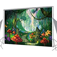 Ouyida Beautiful forest path 7x 5 CP Pictorial cloth photography Background Computer-Printed Vinyl Backdrop TP113
