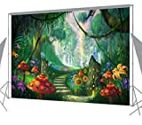 Ouyida Beautiful forest path 7'x 5' CP Pictorial cloth photography Background Computer-Printed Vinyl Backdrop TP113