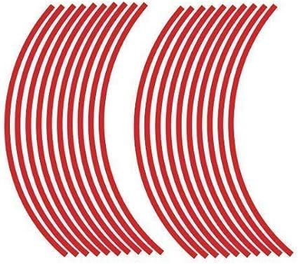 JOllify Felgenrandaufkleber 18 Design: durchgehend Felgen Aufkleber 19 Zoll 17 passend f/ür 16