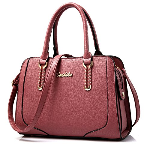 Xuanbao Atmosphere Woman Red Simple Tote Bag Cadena Diagonal Bolso de Mano (Color : Rubber Red) Rubber Red