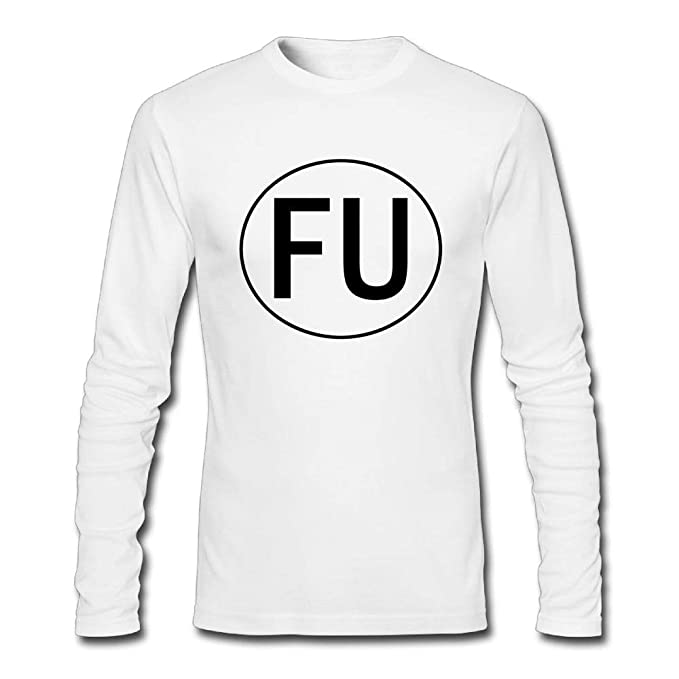 4f3600b60e6 Amazon.com  TangChuan Men s FU Long Sleeve Funny T Shirt  Clothing