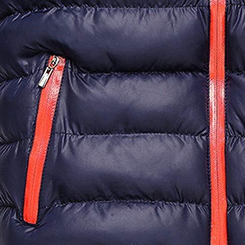 Hombre Pluma Abrigo Gusspower Oscuro Pie De Outerwear Collar Tops FqYfpwP