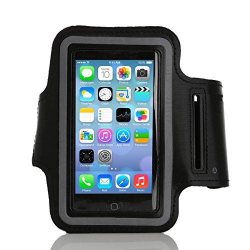ArktisPRO Neopren Sport Armband für Apple iPhone 5/5S schwarz