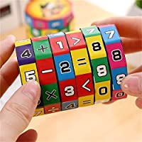 Maikouhai New Children Kids Mathematics Numbers Geometric Transforming Magic Cube Toy Puzzle Game Gift - Easy Turning and Smooth Play - Plastic, 6x9cm