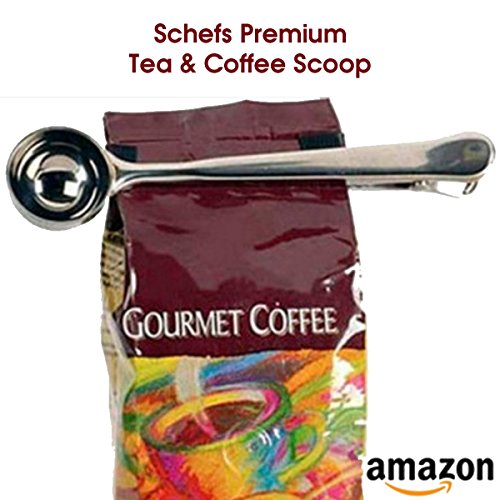 Schefs Premium Stainless Steel Coffee Scoop and Tea Scoop with Integrated Bag Clip by Schefs (Image #5)