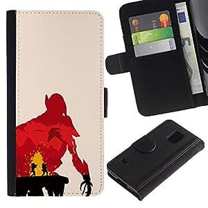 MobileX / Samsung Galaxy S5 V SM-G900 / Jedi Duel / Cuero PU Delgado caso Billetera cubierta Shell Armor Funda Case Cover Wallet Credit Card