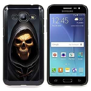 "Qstar Arte & diseño plástico duro Fundas Cover Cubre Hard Case Cover para Samsung Galaxy J2 / J200 (Cráneo Parca"")"