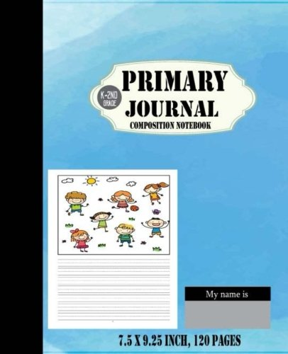 Download k-2nd grade primary composition journal: (Blue Water Color Design Cover) Primary Writing Journal for Kid. Creative Story Tablet Drawing Writing ... 120 pages (Kid Story Board Diary) (Volume 6) Text fb2 ebook