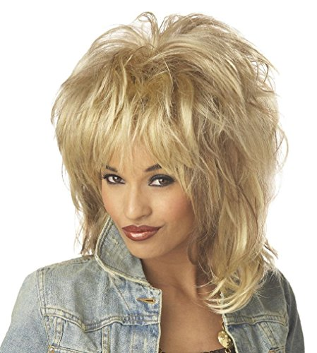 [Fancy Rockin' Soul Tina Turner Diva Adult Costume Wig - Blonde] (Tina Turner Wigs)