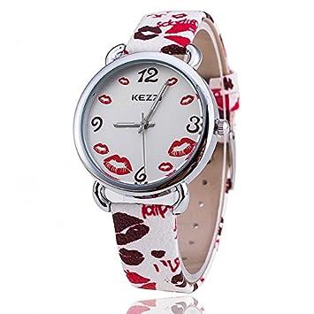 bysor (TM) Kezzi reloj k-1116 marca labios reloj mujer reloj de pulsera reloj de cuarzo Relogio Feminino Casual relojes de lujo: Amazon.es: Electrónica