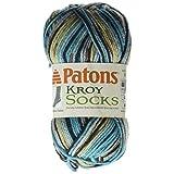 Spinrite Patons Kroy Socks Yarn, Turquoise Jacquard