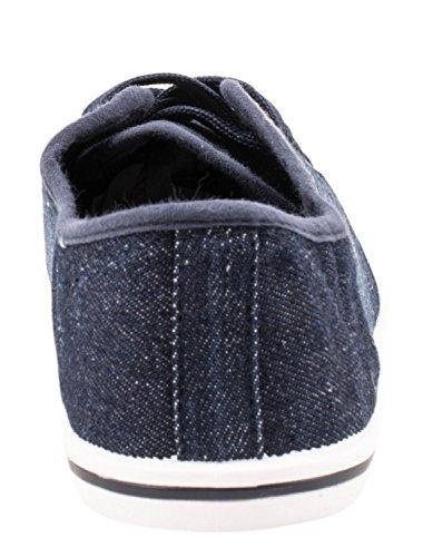 Bleu Sneakers Elara Sportlich Bequeme Basic Turnschuhe Schnürer Foncé Low 041wHq