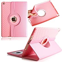 Case for iPad Air 2,TechCode 360 Degrees Rotating Magnetic Stand Smart Screen Protective with Cards Slots Case Cover for Apple iPad Air 2/iPad 6 9.7 inch Tablet