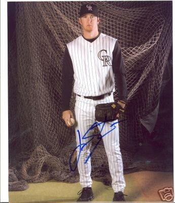 Judd Songster Colorado Rockies Signed 8x10 Photo W/coa - Autographed MLB Photos