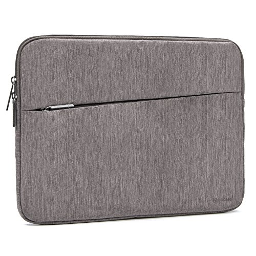 Surface Pro 6 Tablet Sleeve Evecase Water Repellent Shockproof Sleeve Protective Case Bag with Accessory Pocket for Microsoft Surface Pro 6, Google Pixel Slate 12.3, Samsung Galaxy Book2 12 - Gray