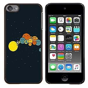 YiPhone /// Prima de resorte delgada de la cubierta del caso de Shell Armor - Divertido Planetas Comedia - Apple iPod Touch 6 6th Touch6