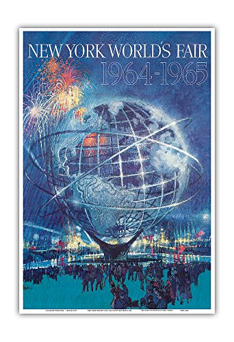 New York World's Fair 1964-1965 - Unisphere Earth Model - Vintage World Travel Poster by Bob Peak c.1964 - Master Art Print - 13in x 19in (1964 Poster Print)