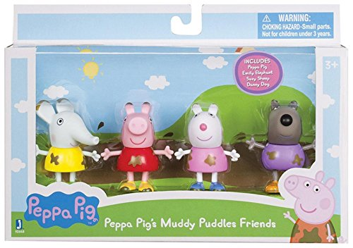 Peppa Pig 92648 Muddy Puddles Friends 4 Pack Toy - Pig Muddy