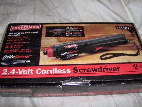 Craftsman 2.4 Volt Cordless Screwdriver (Craftsman Cordless Switch)