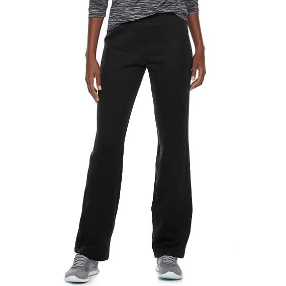 6f494c781e32e Tek Gear Women's Mid Rise Fleece Lined Straight Leg Pants at Amazon Women's  Clothing store: