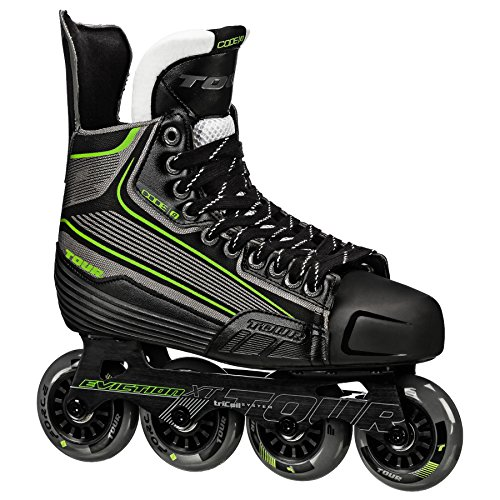 (Tour Hockey Code 9 SR Inline Hockey Skate, Black/White/Red, 09)