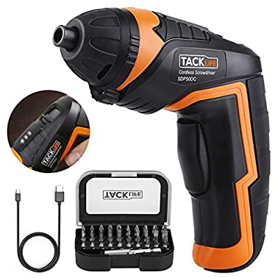 Electric Rechargeable Screwdriver with 31pcs Driver Bits, 3.6-Volt 2000mAh Lithium Ion Cordless Screwdriver MAX Torque 4N.m with LED, USB Charging
