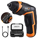 Electric Rechargeable Screwdriver with 31pcs Driver Bits, 3.6-Volt 2000mAh Lithium Ion Cordless Screwdriver MAX Torque 4N.m with LED, USB Charging For Sale
