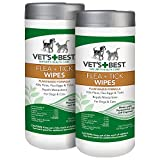 Vet's Best Flea and Tick Wipes for Dogs and Cats, 50 Wipes, USA Made (2 Pack)