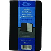 Hilroy 33430 Business Card Holder, 4-3/4x7-3/8-Inch, Holds upto 96 Cards, Black
