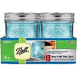 Ball Regular Mouth Elite Collection Half Pint Jars, Blue (4-Pack)