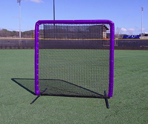 7x7 Armor Baseball / Softball Protective Screen with PURPLE Padding by Armor