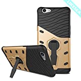 LIKESEA Stand Case for Oppo F1s, Fashionable Double Protective Cover with Kickstand, Shock-Absorption and Anti-Scratch Gold
