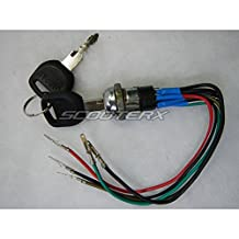 Key Ignition 5 Wire Switch Electric Scooter Moped Gas Go Kart