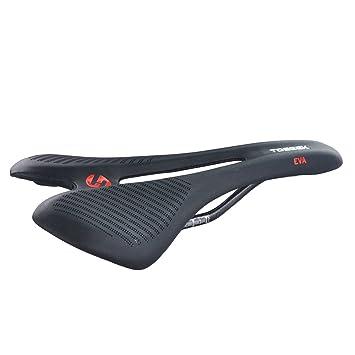 UPANBIKE Sillín de Bicicleta de Fibra de Carbono + Asiento de Cuero para Bicicleta de Montaña