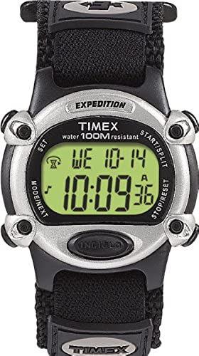 Timex Men's T48061 Expedition Full-Size Digital CAT Black Fast Wrap Strap Watch