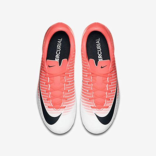 NIKE Kids JR Mercurial Vapor XI FG Soccer (Toddler Big), Racer Pink/Black/White, 2.5 Little Kid M by NIKE (Image #3)